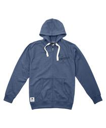 Genuine blue cotton blend hoodie
