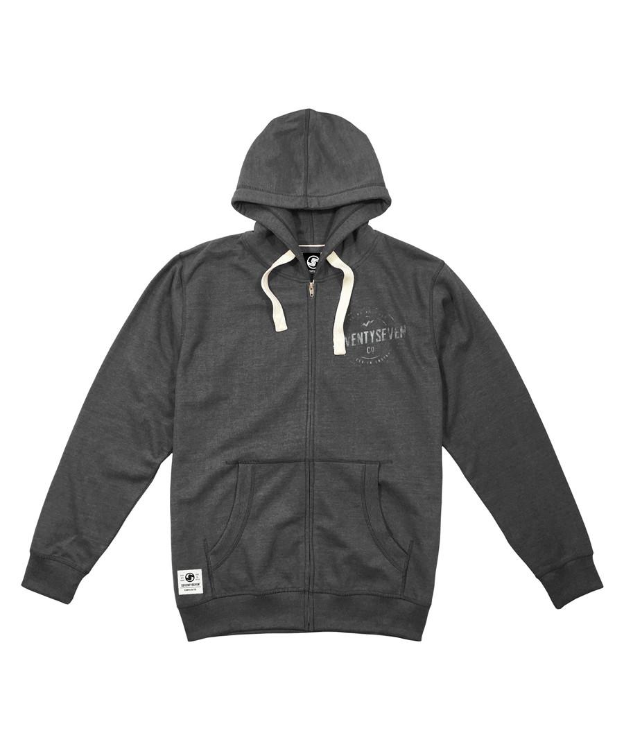 Genuine dark grey cotton blend hoodie Sale - seventy seven