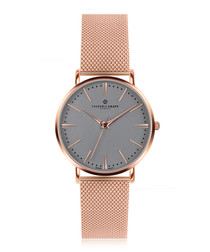 Eiger rose gold-plated steel watch