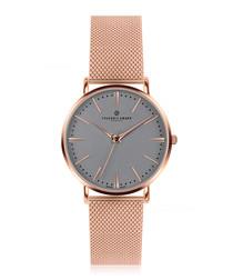 Eiger rose gold-tone steel watch