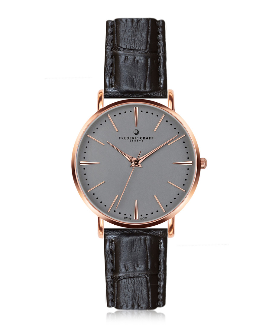 Eiger rose gold-plated & black watch Sale - frederic graff