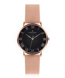 Dom rose gold-plated & steel mesh watch