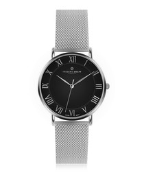 Dom silver-plated & steel mesh watch
