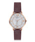 Liskamm bordeaux grained leather watch  Sale - frederic graff Sale