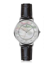 Liskamm silver-plated & black watch