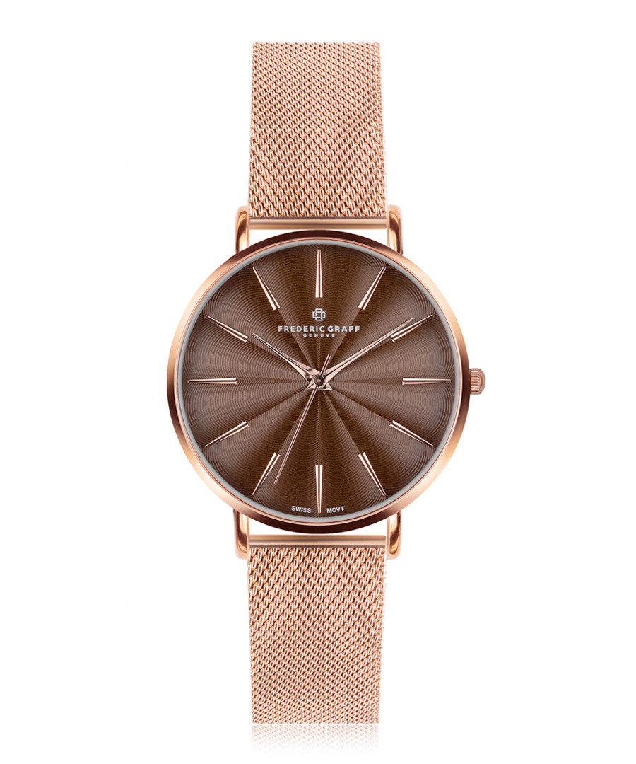 Monte Rosa rose gold-plate & steel watch Sale - frederic graff