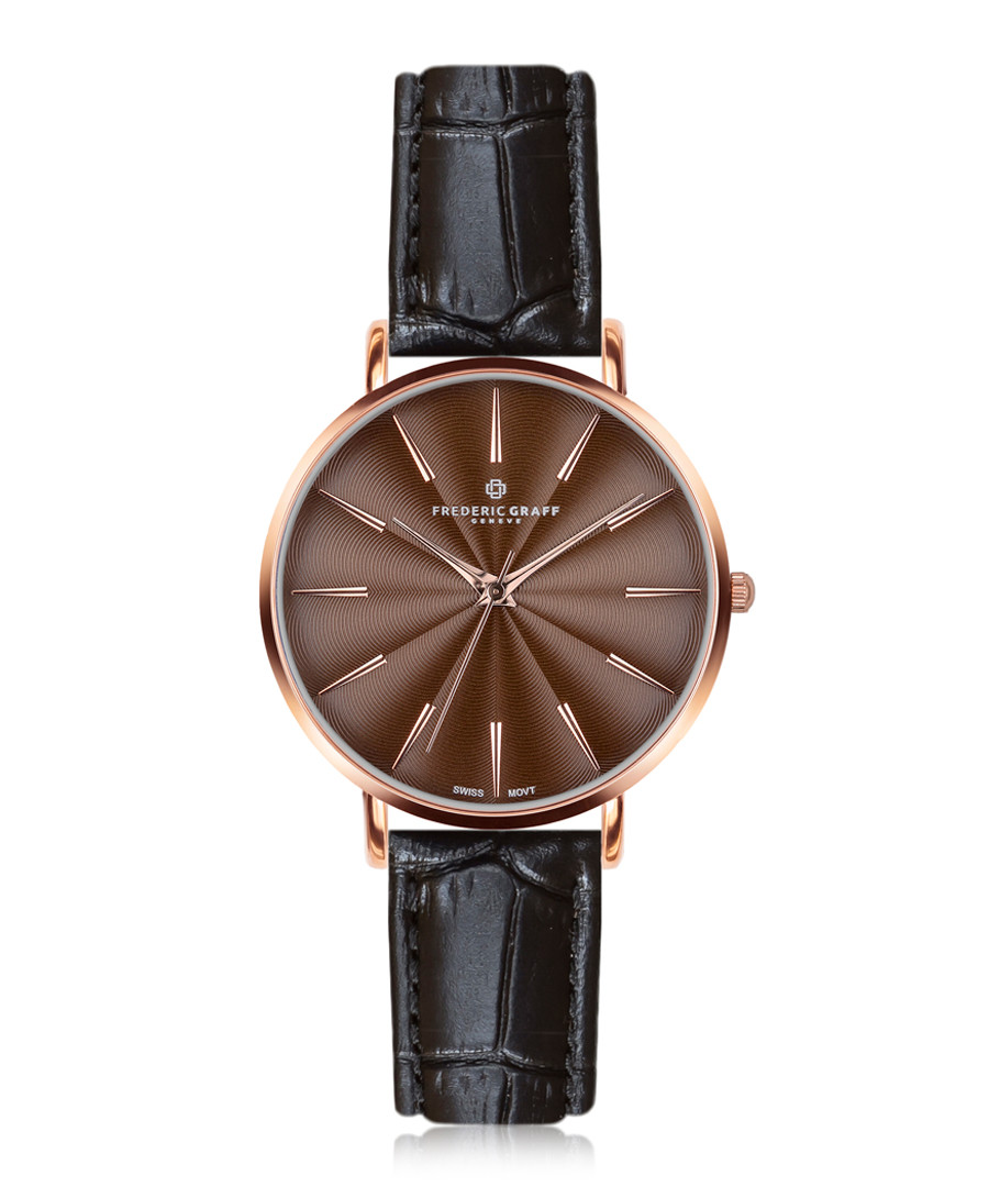 Monte Rosa black leather watch Sale - frederic graff