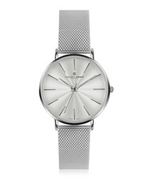 Monte Rosa silver-plated & steel watch