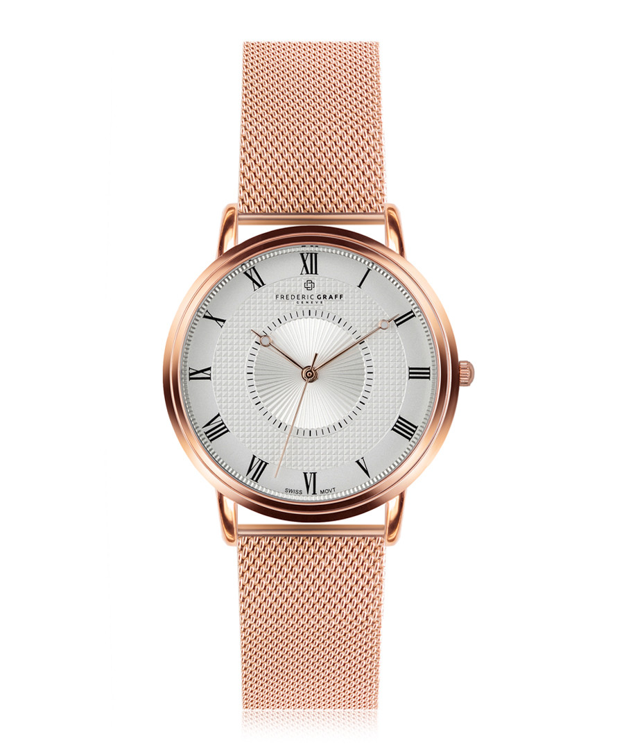 Grand Combin rose gold-plate steel watch Sale - frederic graff