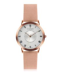 Grand Combin rose gold-plate steel watch