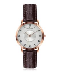Grand Combin walnut leather watch