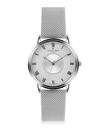 Grand Combin silver-plated & steel watch