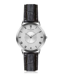 Grand Combin silver-plate & black watch