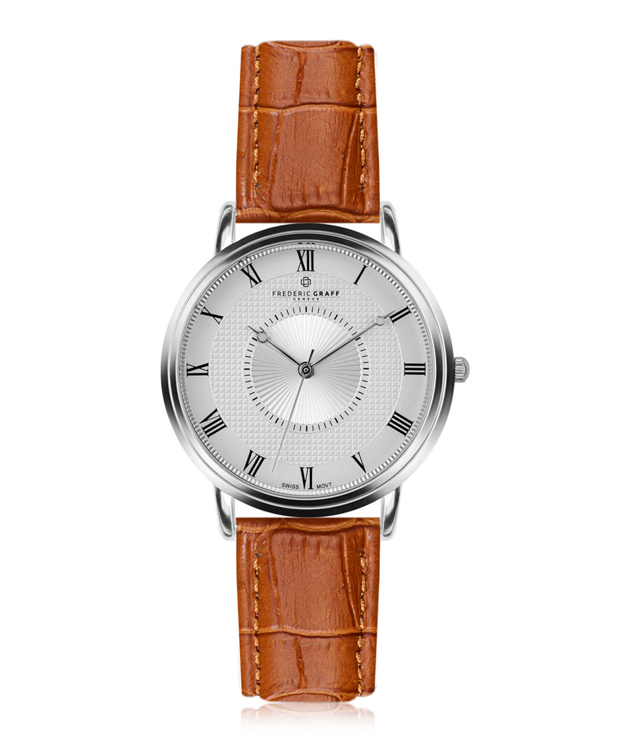 Grand Combin brown & silver-plated watch Sale - frederic graff