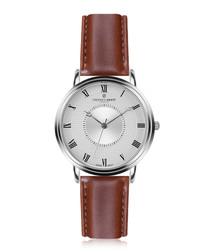 Grand Combin cognac leather watch