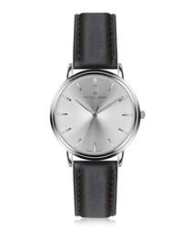 Breithorn black & silver-tone watch