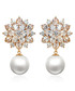 Blooming Snowflake gold-plated earrings Sale - caromay Sale