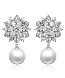 Snowflake sterling silver earrings