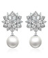 Snowflake sterling silver earrings Sale - caromay Sale