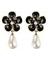 Camellia Flower black earrings  Sale - caromay Sale