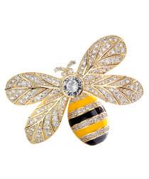 Queen Bee champagne bee brooch