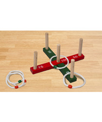 Garden rope quoits game