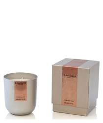 Argentate cypress & lime boxed candle