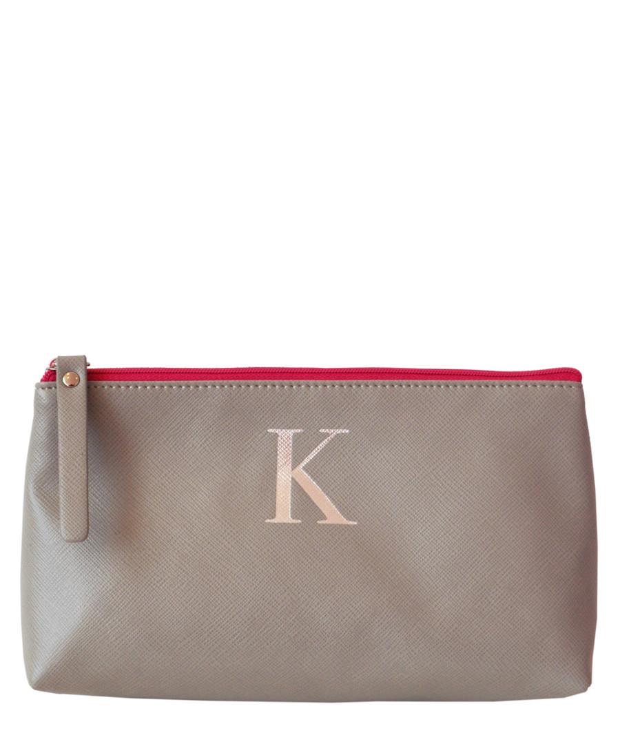 5584ab1c76 Monogram grey K make-up bag Sale - Bombay Duck