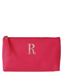 Monogram fuchsia R make-up bag