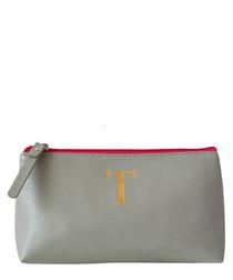 Monogram grey T make-up bag