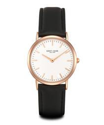 East Village rose gold-tone alloy watch