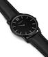 Upper Union black leather & alloy watch Sale - eastside Sale
