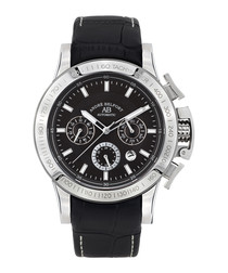 Le Pilote black leather watch