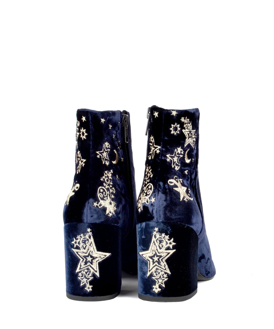 baac55281ce35 ... Elixir navy velvet embroidered boots Sale - Ash ...