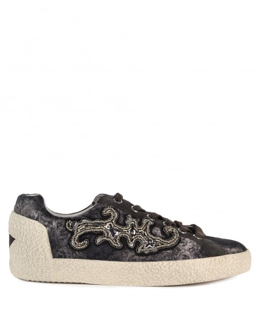 Women's Nymphea brown leather sneakers Sale - Ash