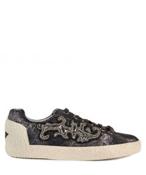 Women's Nymphea brown leather sneakers