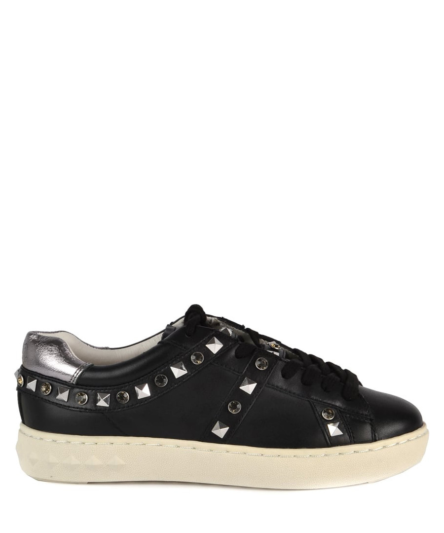 Women's Play black leather stud sneakers Sale - Ash