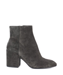 Eden taupe suede heeled boots