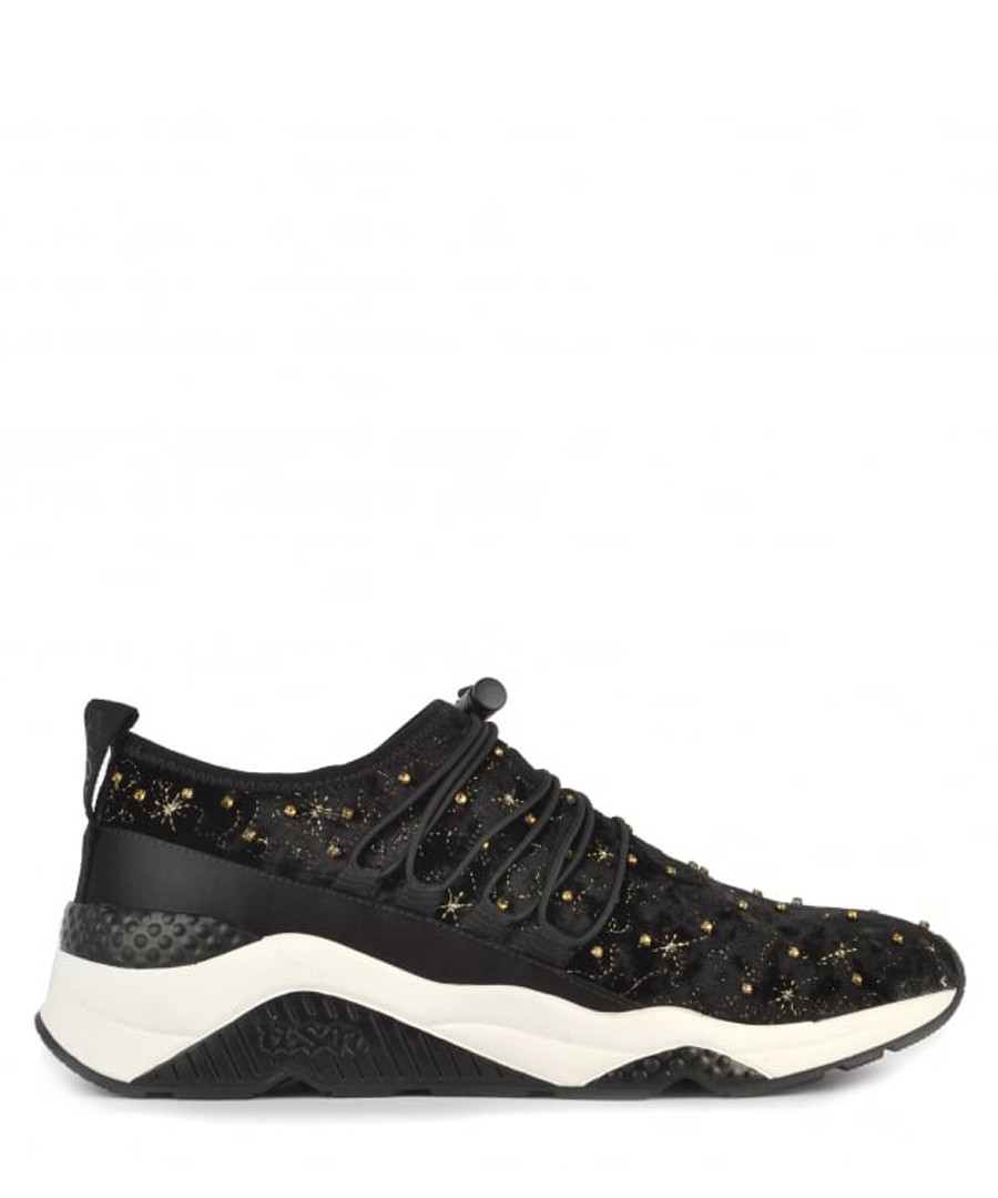 Women's Misstic black velvet sneakers Sale - Ash