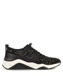 Women's Misstic black velvet sneakers