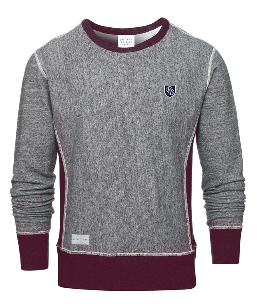 Badge grey cotton blend jumper Sale - putney bridge