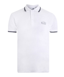 Bridge white pure cotton polo shirt