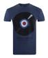 Vinyl Target blue pure cotton T-shirt Sale - putney bridge Sale