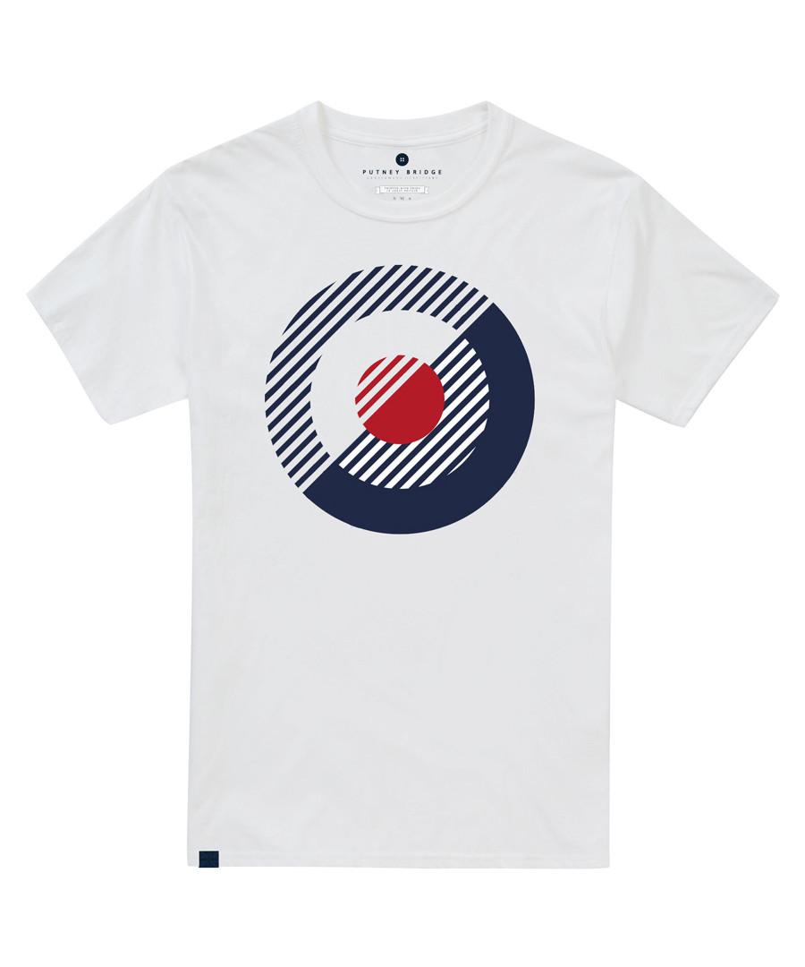 Bauhaus white pure cotton T-shirt Sale - putney bridge