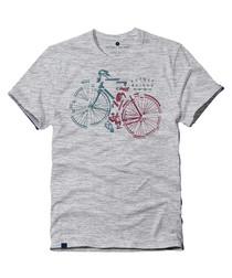 Bike Segment grey cotton blend T-shirt