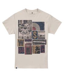 London Icons cream pure cotton T-shirt