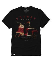 Scooter Flag black pure cotton T-shirt