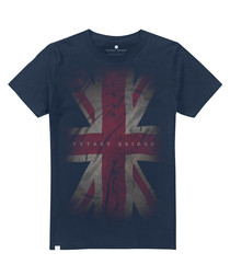 Union Jack navy cotton T-shirt