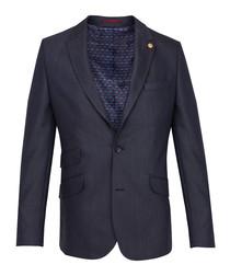 Navy single-breasted blazer