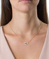 14ct gold-plated & crystal eye necklace Sale - diamond style Sale
